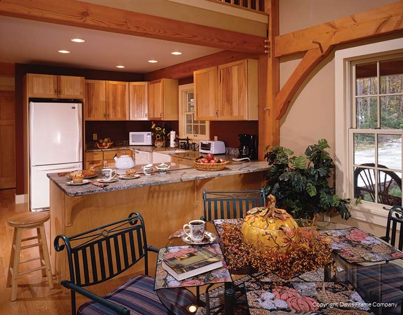 Classic Homestead Timber Frame Kitchen