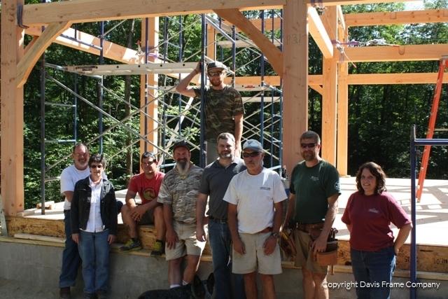 vermont timber frame raising