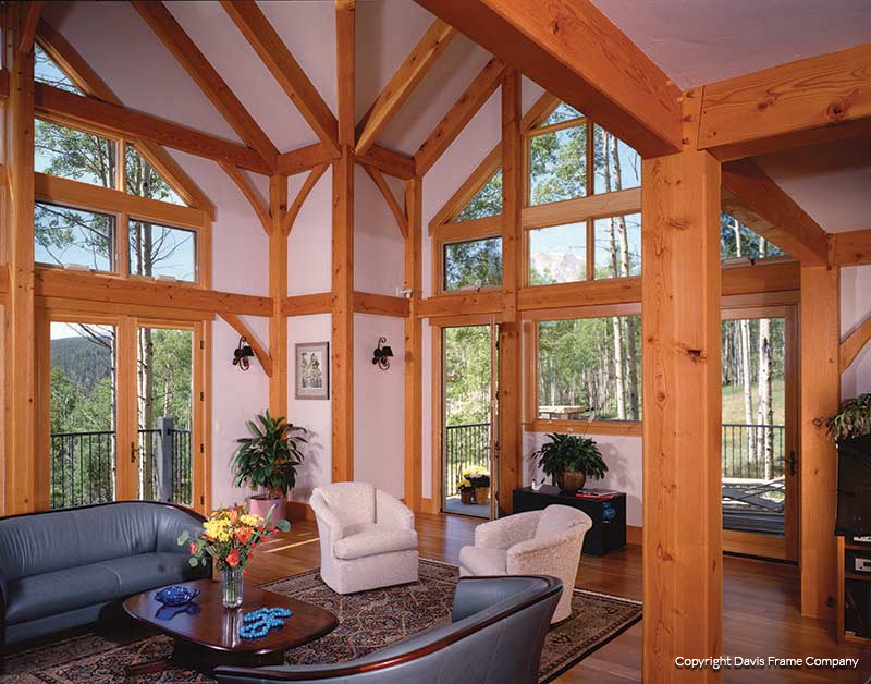 Great room designs open living u family room by jerry for Timber frame great room
