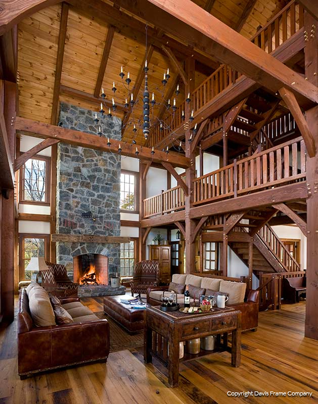 Superb Reclaimed Timber Frame Great Room