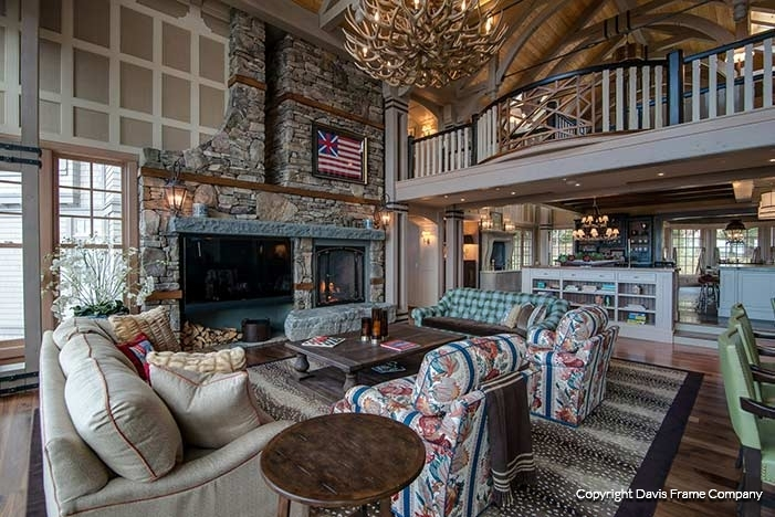 Stratton Ski House Timber Frame Great Room