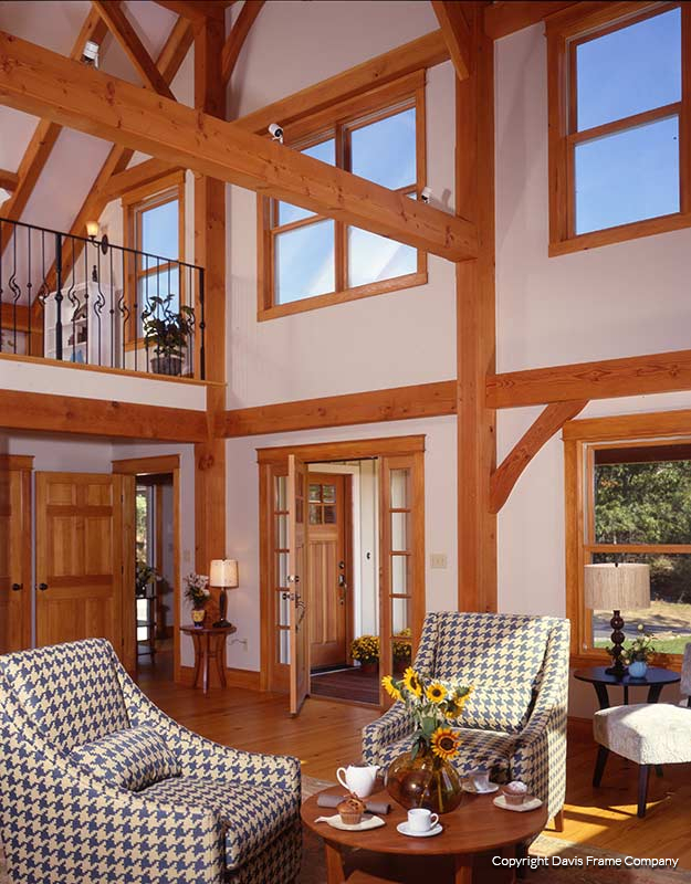 timber frame home interiors. Mid Century Decorated Timber Frame Explore Great Room Photo Gallery  Davis Homes