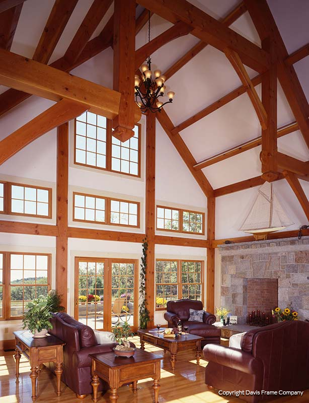 Timber Frame Great Rooms By Davis Frame Company