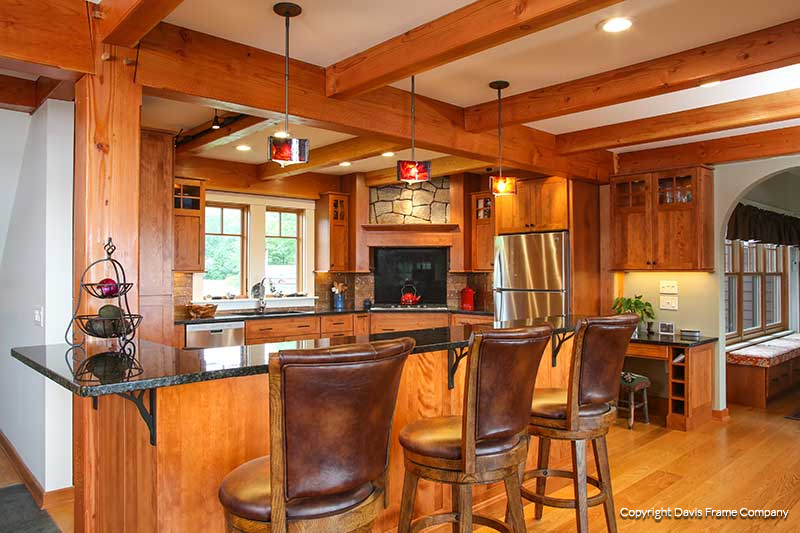 Brand-new Kitchen Photo Gallery | Davis Frame Post and Beam Plans DN61