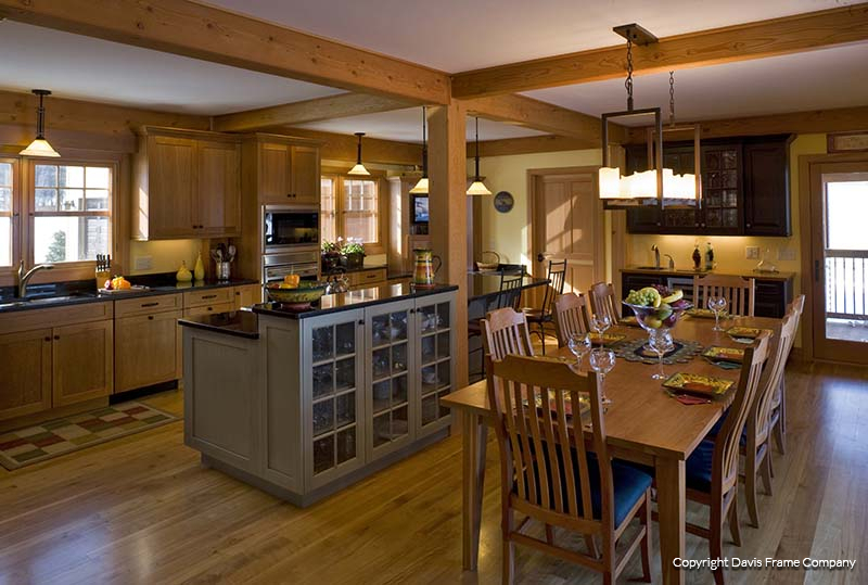 Perfect Craftsman Timber Frame Kitchen. Open Kitchen And Dining