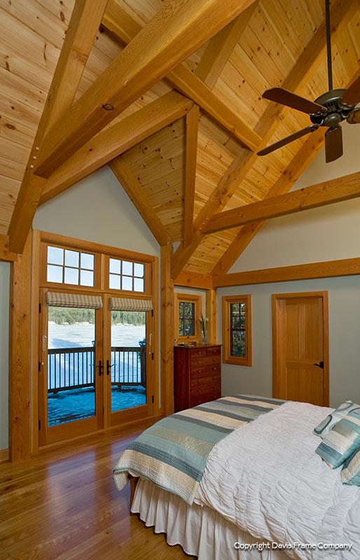 Lakeview Timber Frame Master Bedroom