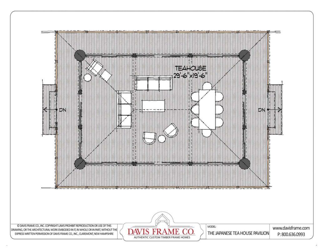 Japanese Tea House Plan Davis Frame