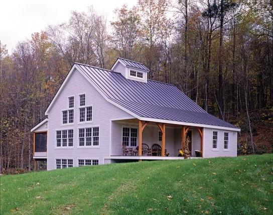 All about small timber frame homes live large in a for Pole frame house plans