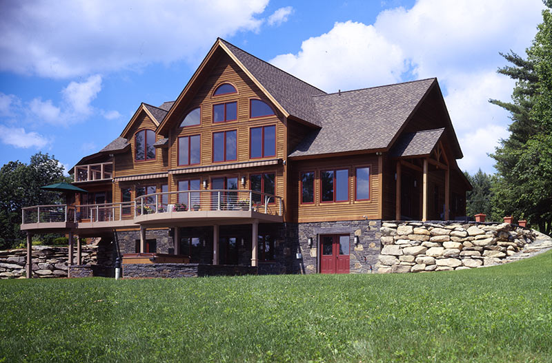 Vermont timber frame home ski patrol a dream home for Vermont farmhouse plans