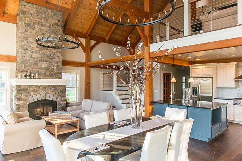 Open concept dining and great room