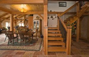 timber frame open floor plan