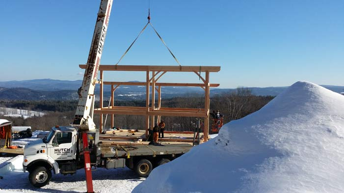 Timber Frame Raising in the Rolling Hills of Vermont
