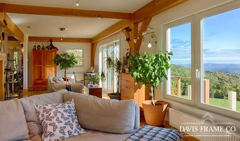 tilt and turn windows in barn home