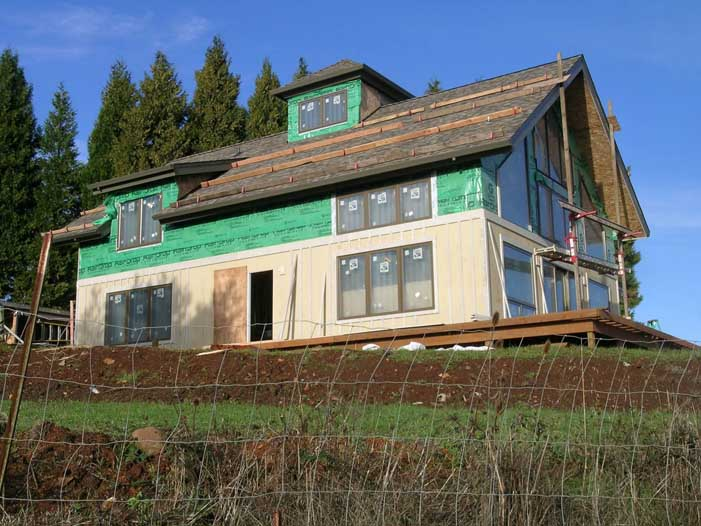 energy efficient timber frame with sips