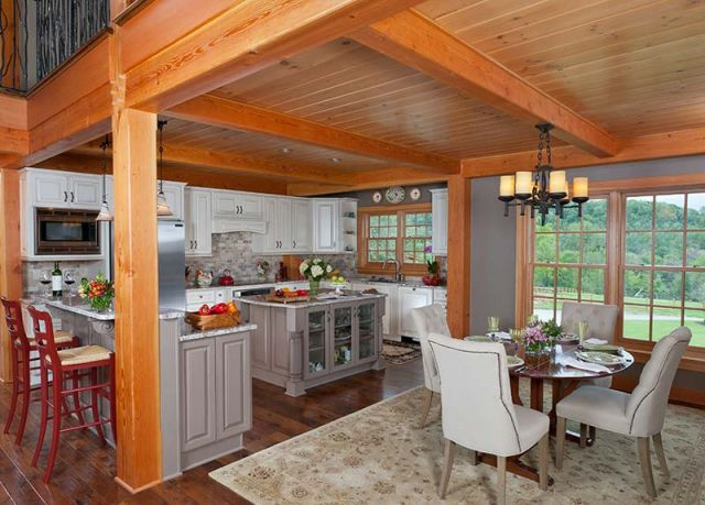 U shaped timber frame kitchen
