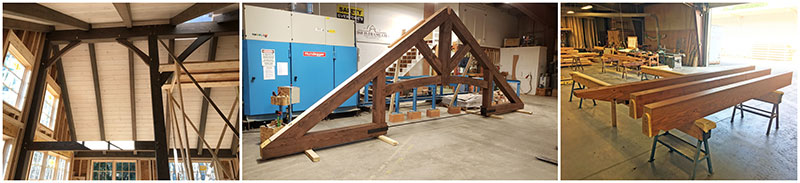 stained timber frame homes