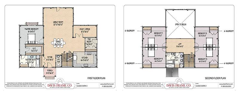 classic barn home floor plans