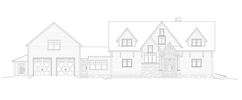 Timber Frame Floor Plan With Three Different Architectural Styles