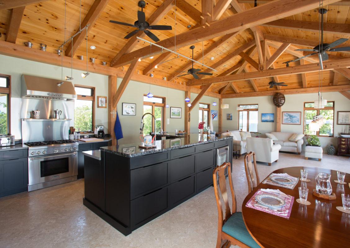grand cayman timber frame home