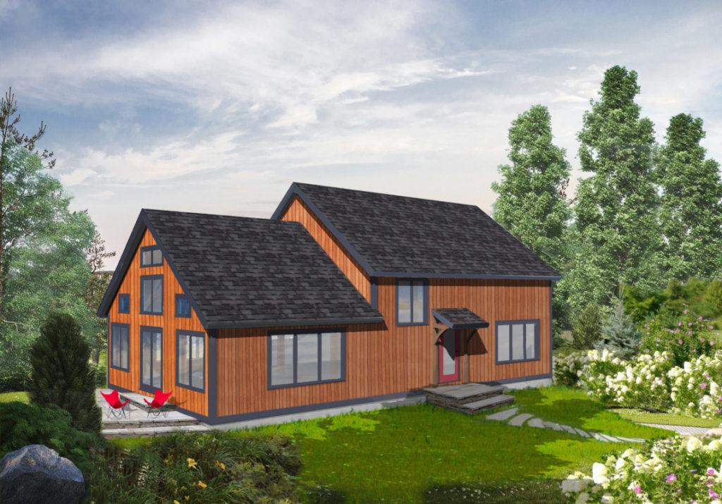 modern barn home
