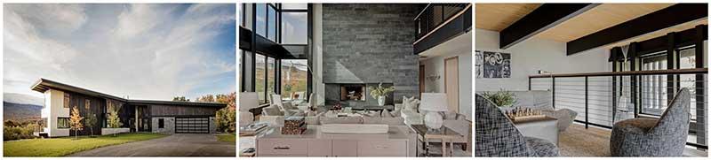 mountain modern timber frame prefab home