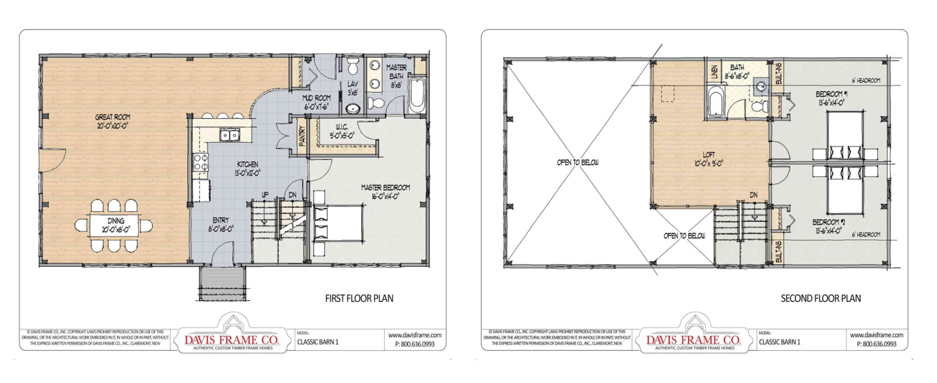 Our most popular timber frame vacation home floor plans for A frame house blueprints