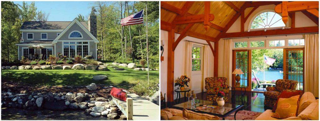 lake sunapee timber frame home