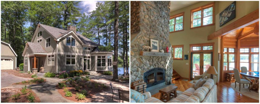 craftsman lakeside timber frame home new hampshire