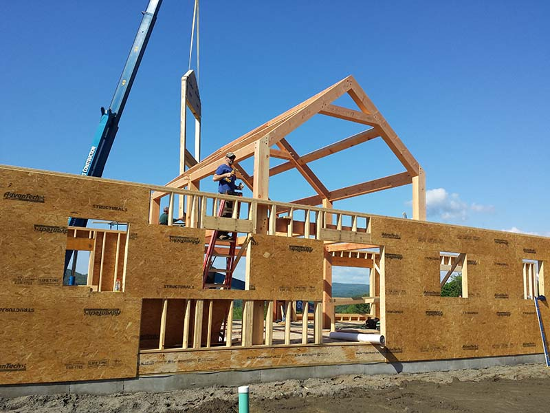 Hybrid Timber Frame Construction