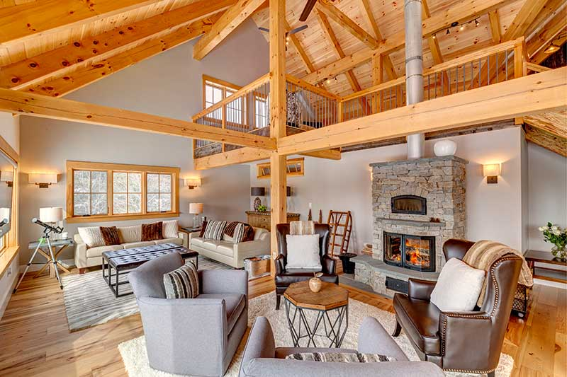 vermont barn home great room