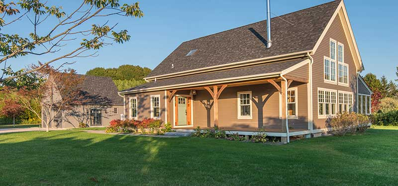 small classic barn home