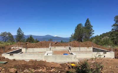 Klamath County Oregon Craftsman Timber Frame Home Under Construction