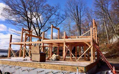 Lake Bonaparte New York Timber Frame Home Under Construction