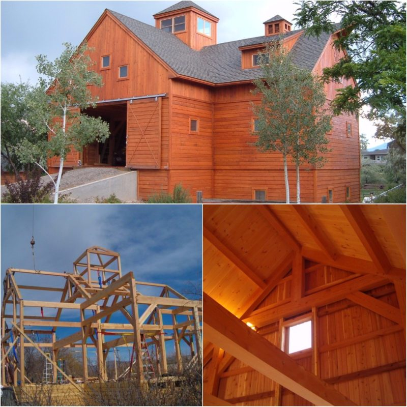 Colorado timber frame barn in Grands Junction