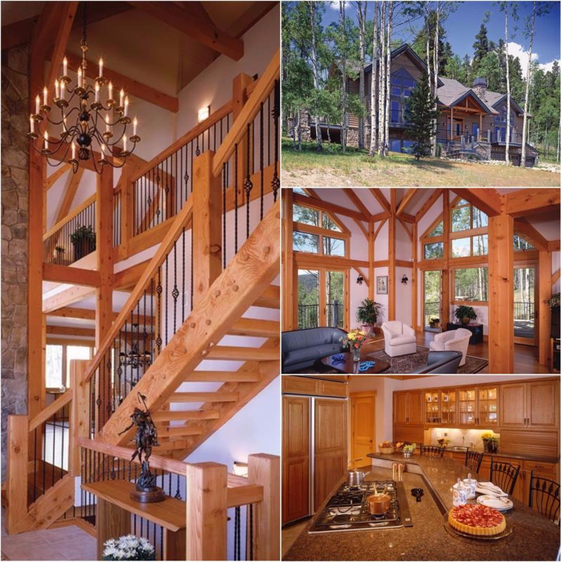 Colorado timber frame home in Silverthorne