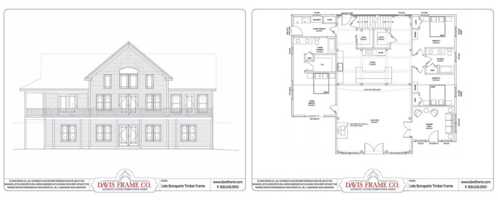 one level timber frame floor plan