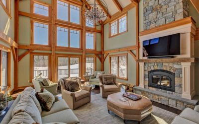 Gorgeous New England Timber Frame Ski Home