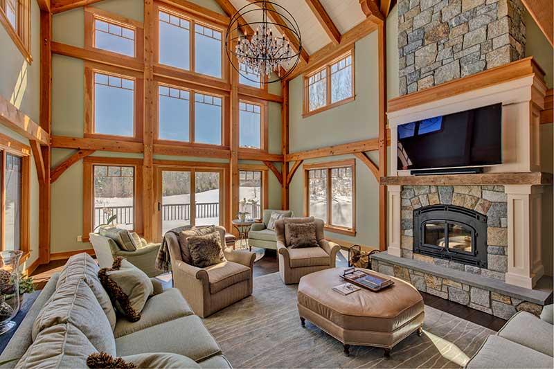 Gorgeous New England Timber Frame Ski Home