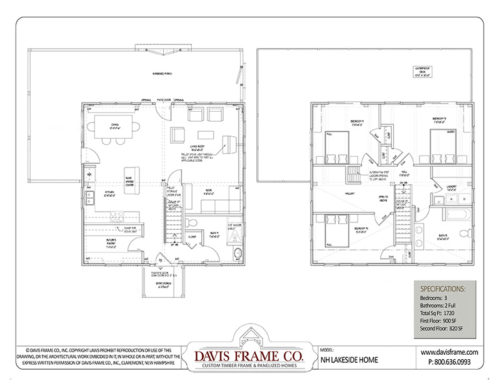 small timber frame floor plan lakefront