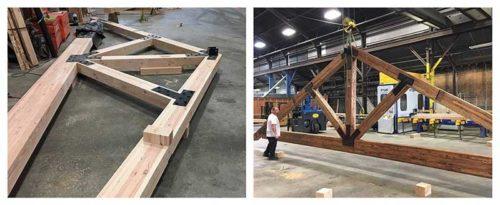 glulam timber frame truss