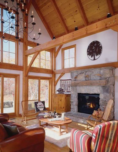 classic barn home great room