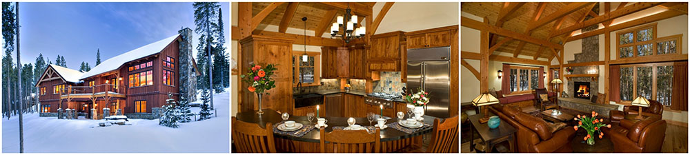 timber frame ski home in breckenridge colorado