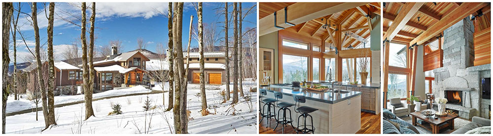 amazing timber frame ski home in stowe vermont