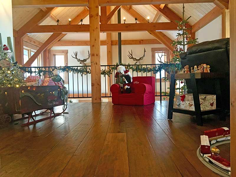 Timber Frame Home for the Holidays