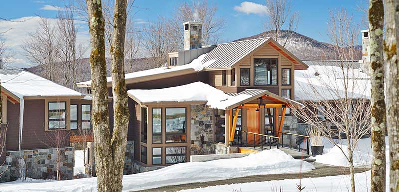 Mountain Modern Timber Frame Ski Home