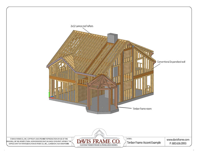 hybrid timber frame homes