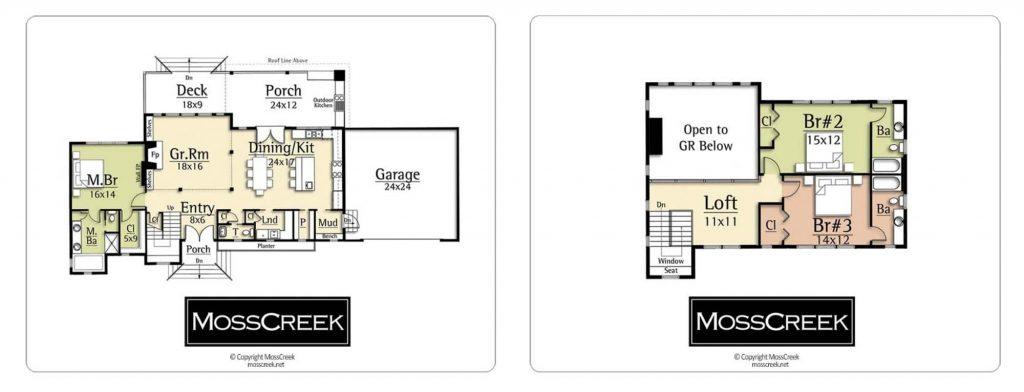 jazz II modern floor plan by mosscreek
