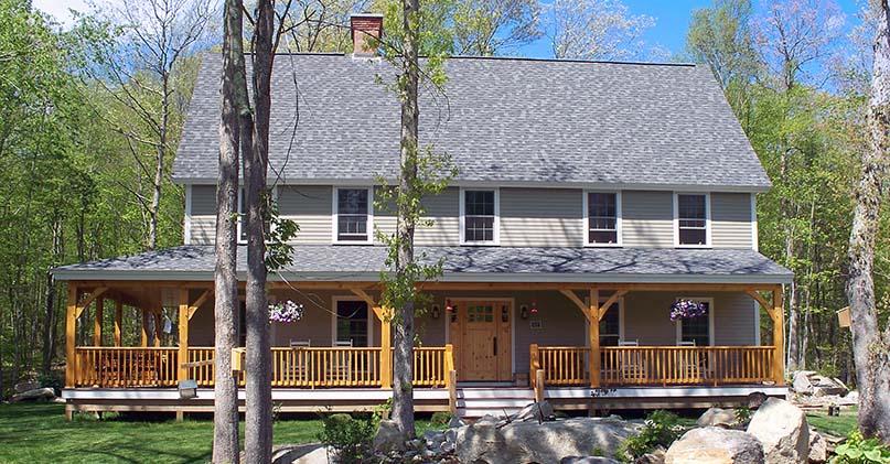 timber frame farmhouse