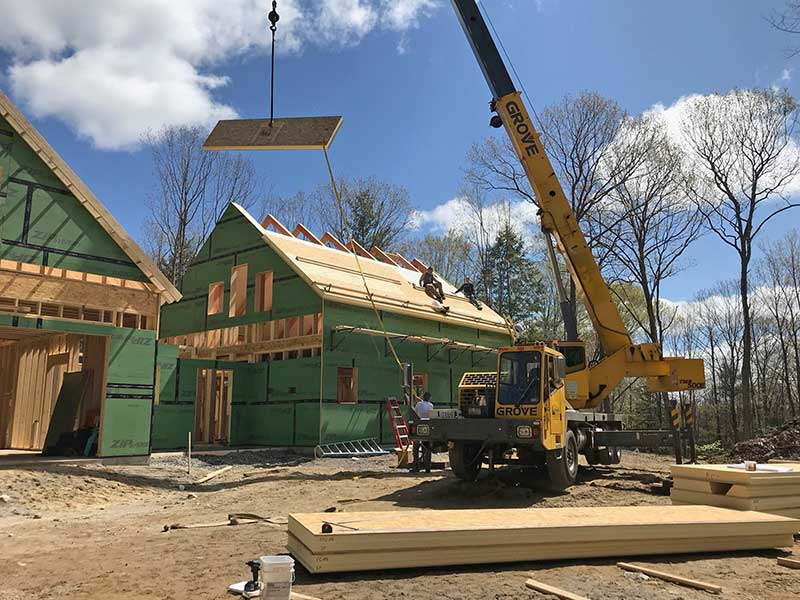 Hybrid Timber Frame Home in New Hampshire