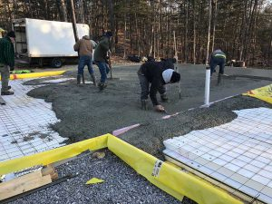 warm form foundation for timber frame home